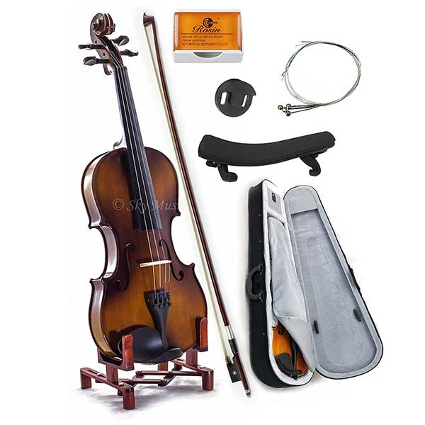 SKY Full Size SKYVN201 Solid Maple Wood Violin