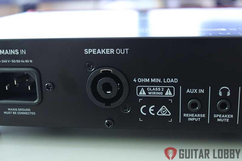 bass amp head speaker output jack