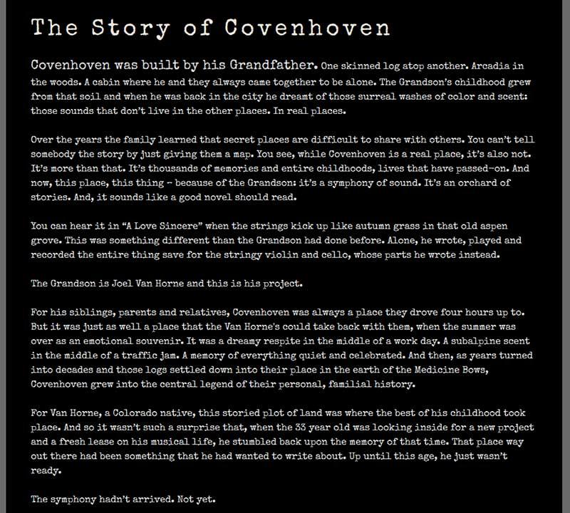 Covenhoven Band Bio Example