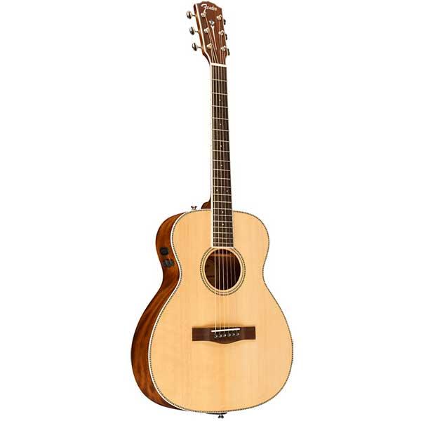 Fender PM TE Travel Standard, Natural Acoustic-Electric Guitar