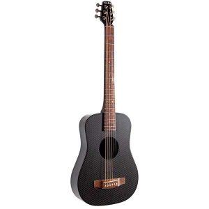 KLOS Black Carbon Fiber Travel Acoustic Guitar