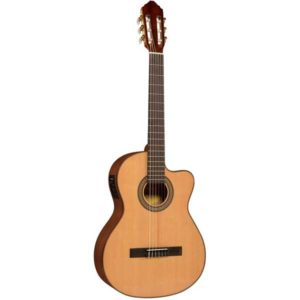 Lucero LC150Sce Spruce-Sapele Cutaway Acoustic-Electric Classical Guitar