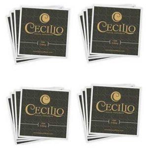Cecilio 4 Packs of Stainless Steel Violin Strings