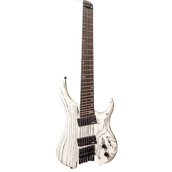 LegatorGhost Performance 7 Multi-Scale Electric Guitar White Ash