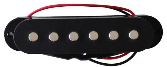 Example of a single coil guitar pickup