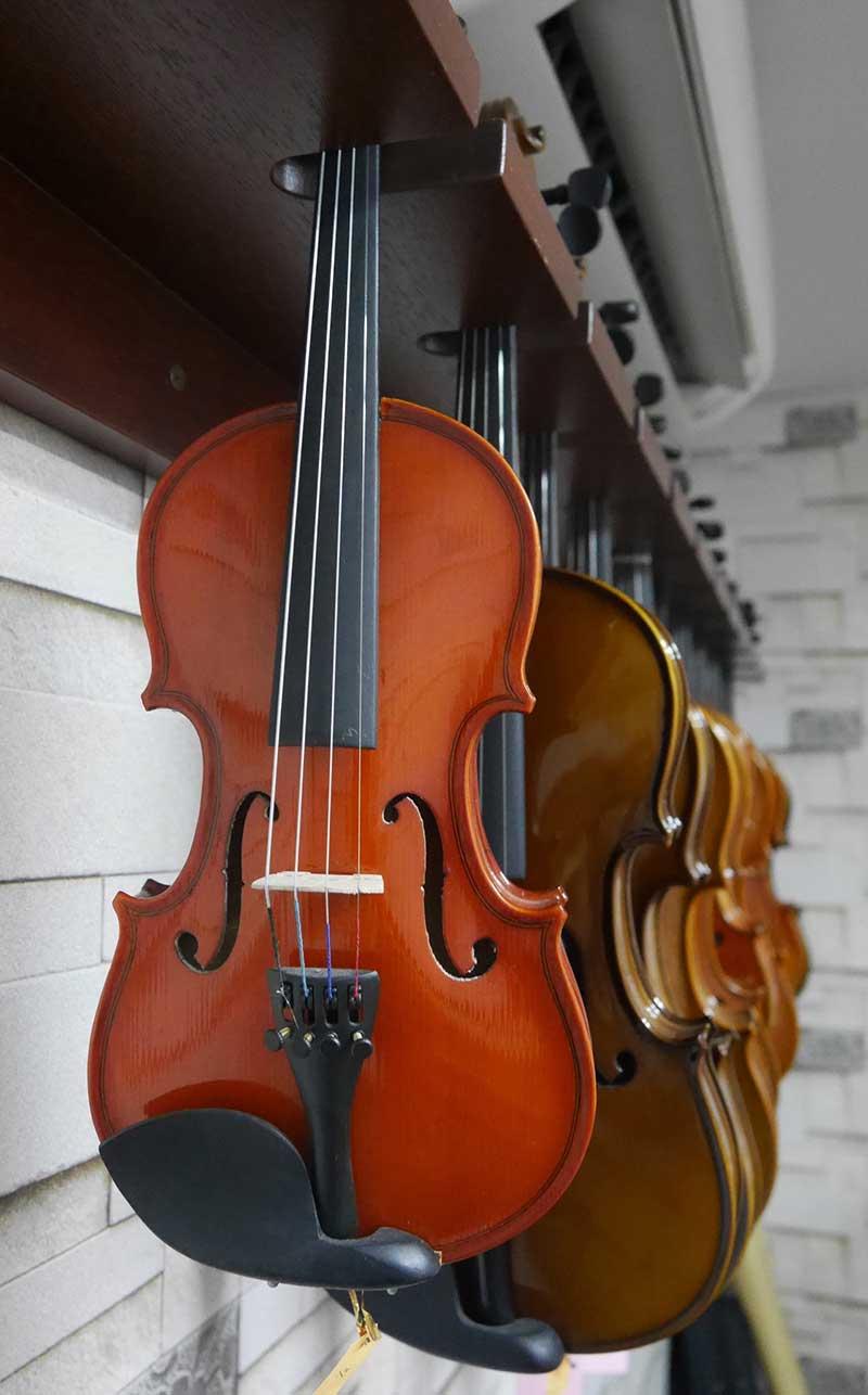 Various Violin Sizes Rack