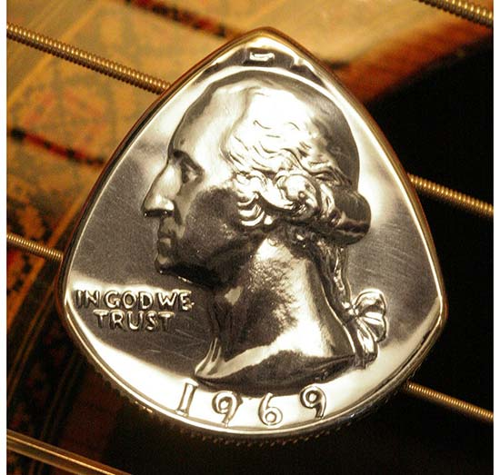 Coin Guitar Pick with Birth Year