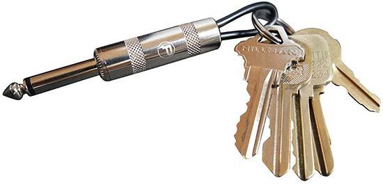 Cool Guitar Plug Keychain