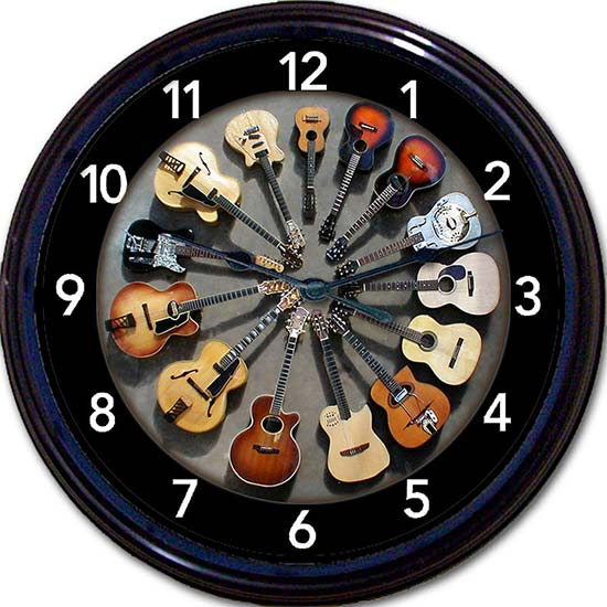 Cool Guitar Wall Clock