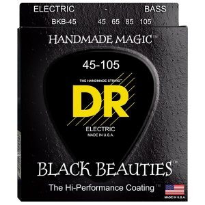 DR Strings Bass Strings Black Beauties Extra Life