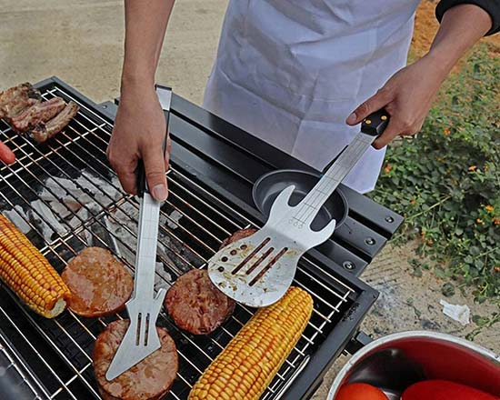 PEPKICN Rock Guitar Style Barbecue Tool Set