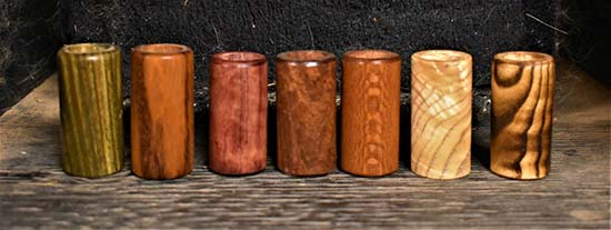 Hickory Rooted Design Hardwood Guitar Bottleneck Slides