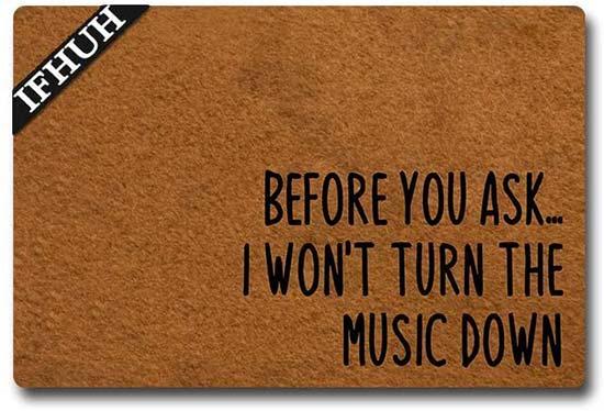Music Down Doormat