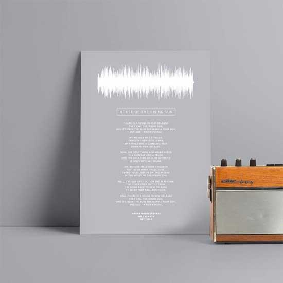 Lyrics Sound Wave Poster