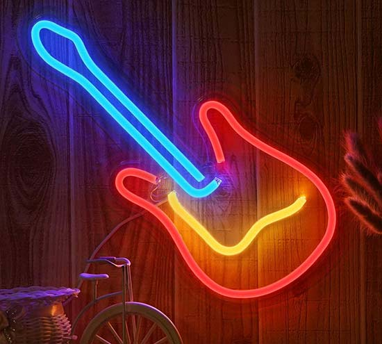 OYE HOYE 3D Neon Guitar LED Light