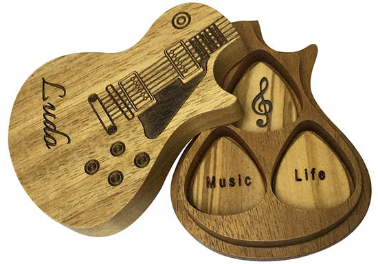 Gifts Journey Personalized Wooden Guitar Picks