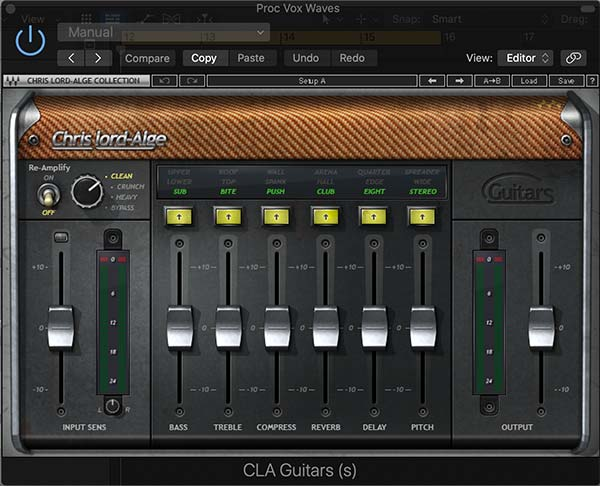 Waves GTR3 CLA Guitars Plugin Example