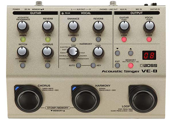Boss Acoustic Singer Effects Processor Pedal