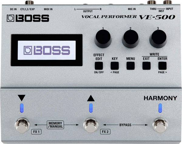 Boss VE-500 Auto Tune and Pitch Correction Pedal