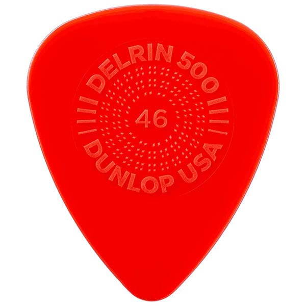 Example of a delrin guitar pick