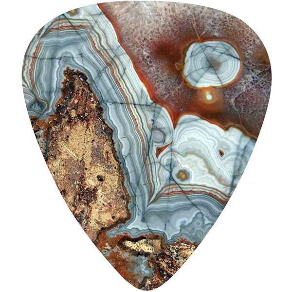 example of a stone guitar pick