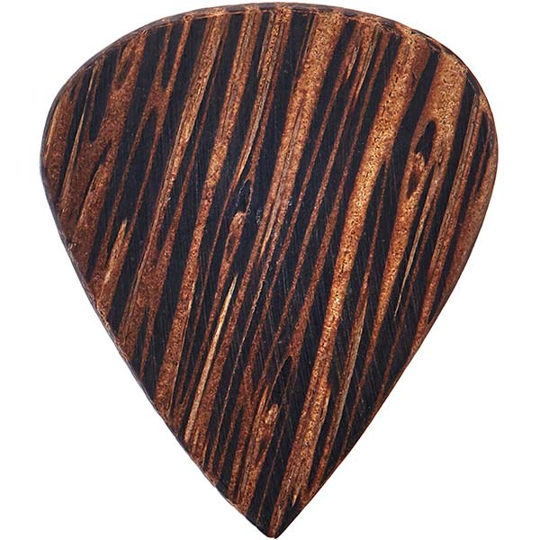 example of a wooden guitar pick
