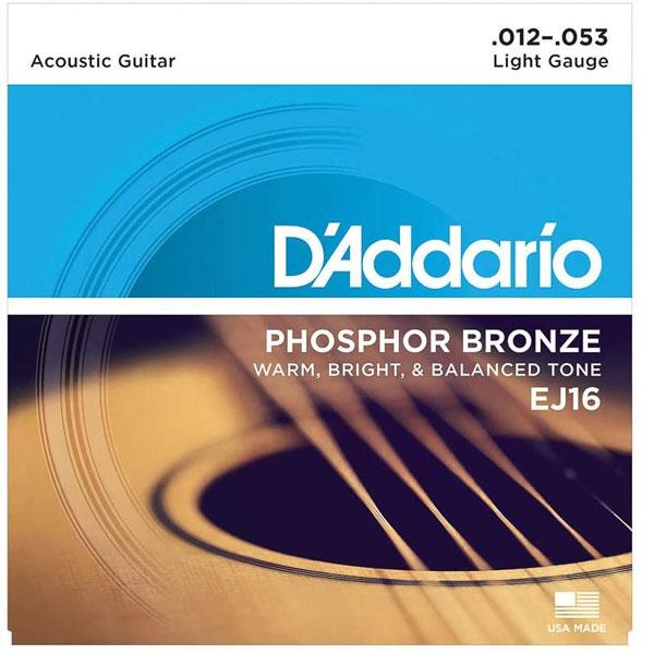 D'Addario Phosphor Bronze EJ16-3d strings