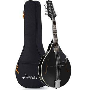 Donner A-Style Mandolin Instrument Sunburst Mahogany