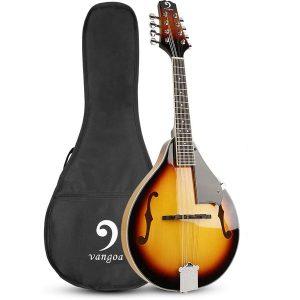 Vangoa A-Style Mandolin Musical Instrument Sunburst, 8 String Acoustic Mandolin