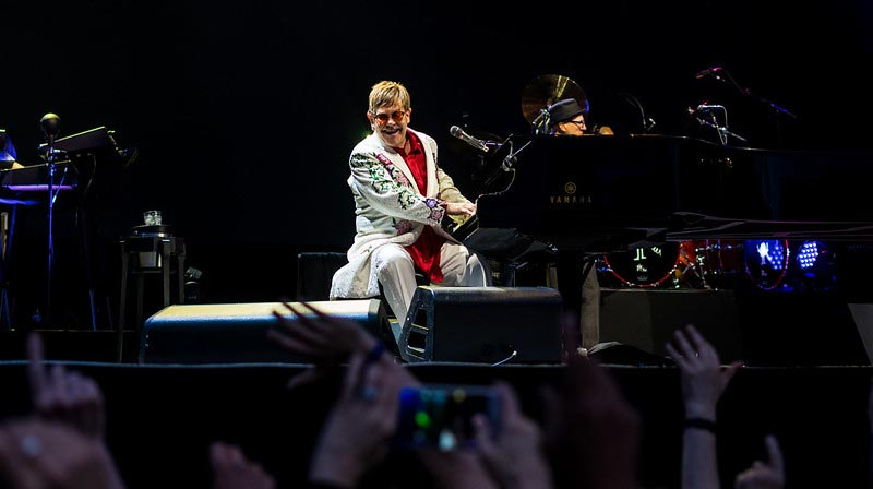 Elton John Playing one of the Best Piano Rock Songs