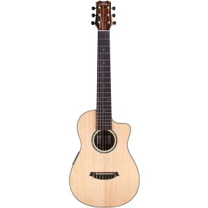Cordoba Mini II EB-CE, Spruce Ebony, Small Body, Acoustic-Electric Cutaway Guitar
