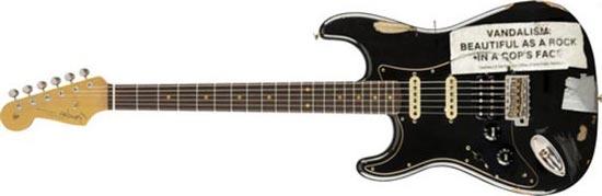 Fender Stratocaster Vandalism