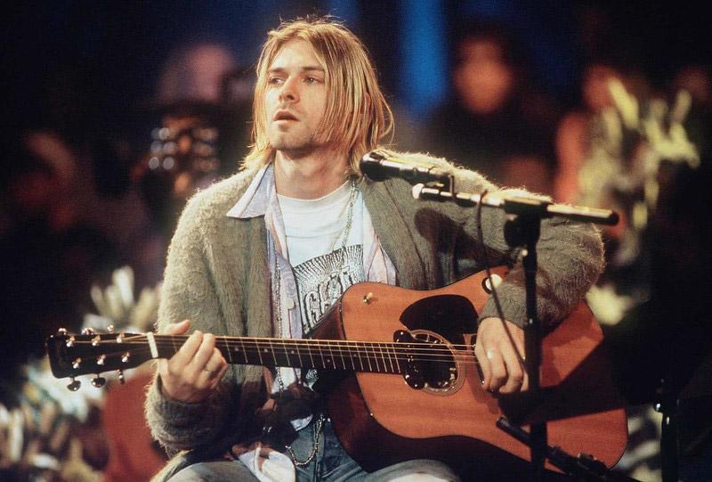 Kurt Cobain Playing the Guitar