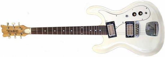 Univox Hi Flier Phase 3 White Kurt Cobain