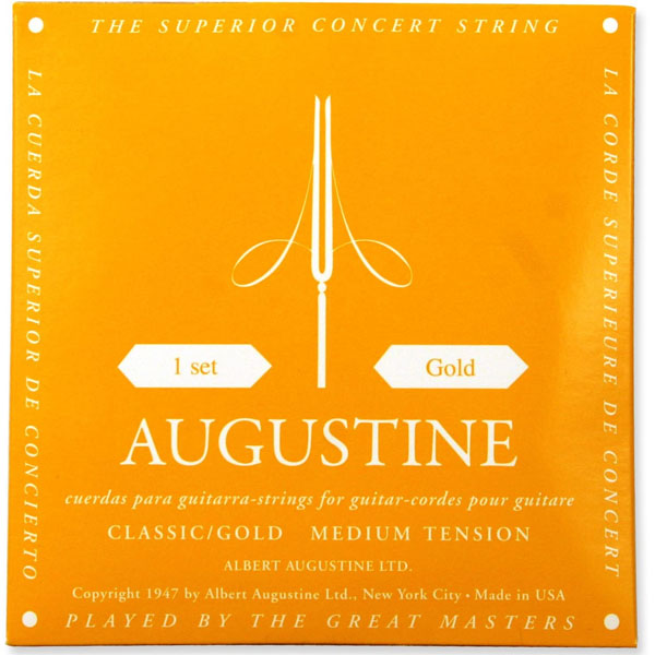 Augustine AUGGOLDSET Classic/Gold Nylon Classical Guitar Strings