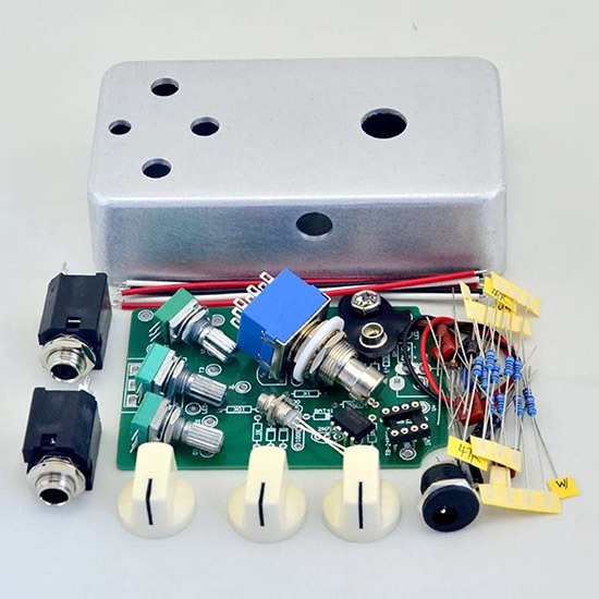 DIY Overdrive Pedal Kit 1590B Hammond Style Aluminum Box