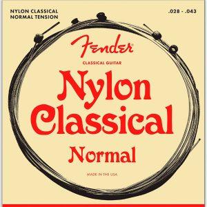 Fender 130 Clear/Silver Classical Nylon Guitar Strings