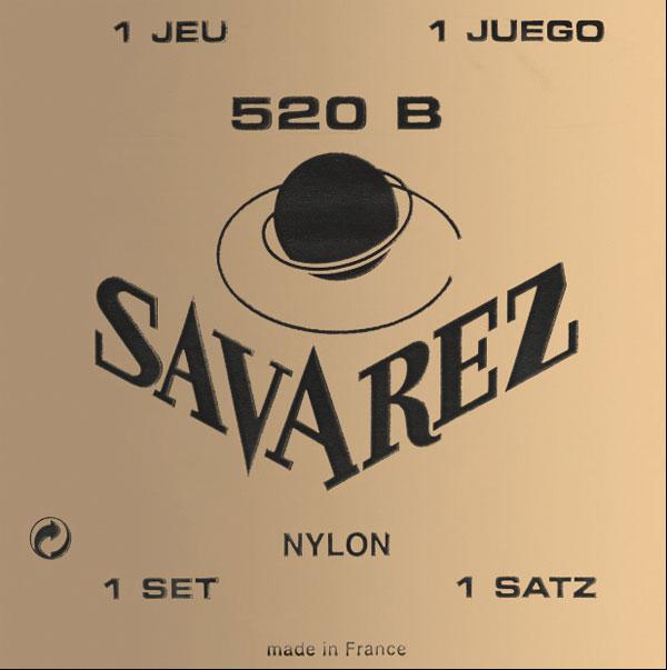 Savarez Traditional White Card 520B Light Tension Classical Guitar Strings