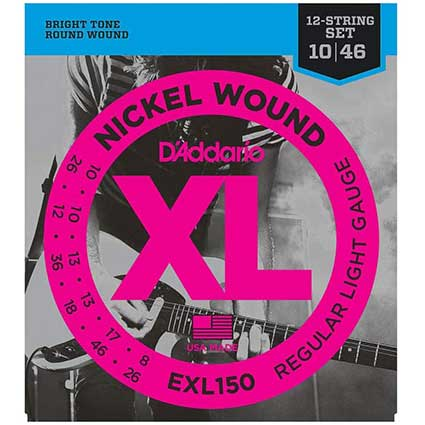D'Addario EXL150 Nickel Wound 12 String Electric Guitar Strings