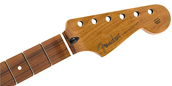 Example of a Stratocaster style headstock shape