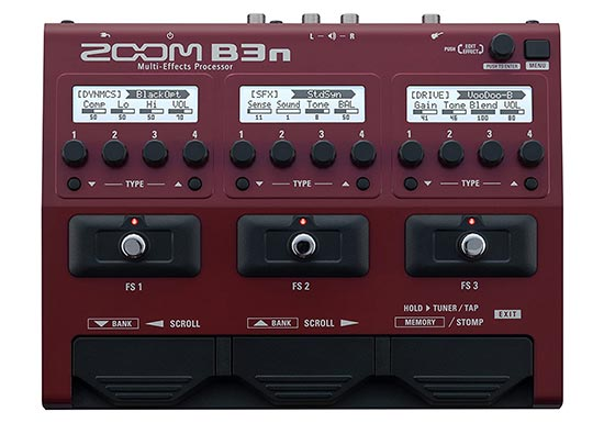 Zoom B3n Bass Multi effect with Audio Interface