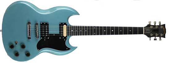 """Gibson Firebrand """"The SG"""" Deluxe Finish: Pelham blue"""