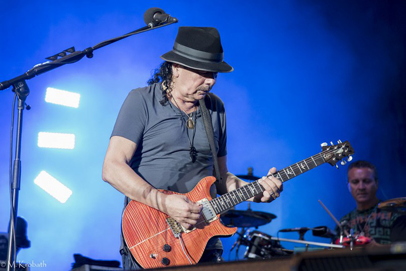 Carlos Santana Playing Guitar