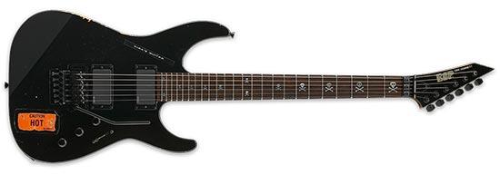 Kirk Hammett ESP Caution Hot Guitar