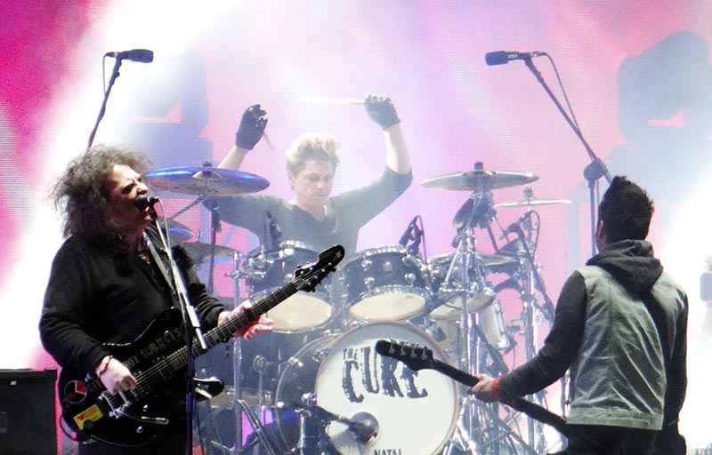 Post Punk Band The Cure Performing Live