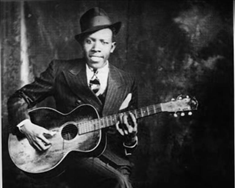 Robert Johnson Playing Guitar