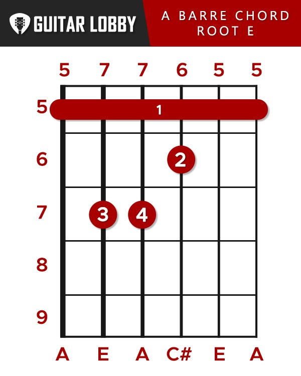 A Barre chord root E string
