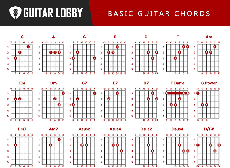 Basic Guitar Chords Infographic