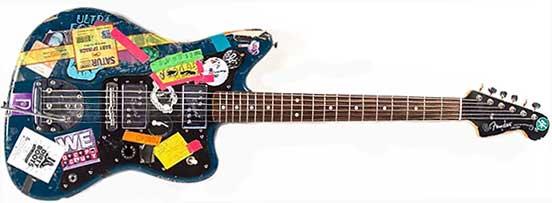 Thurston Moore Blue Fender Jazzmaster Guitar