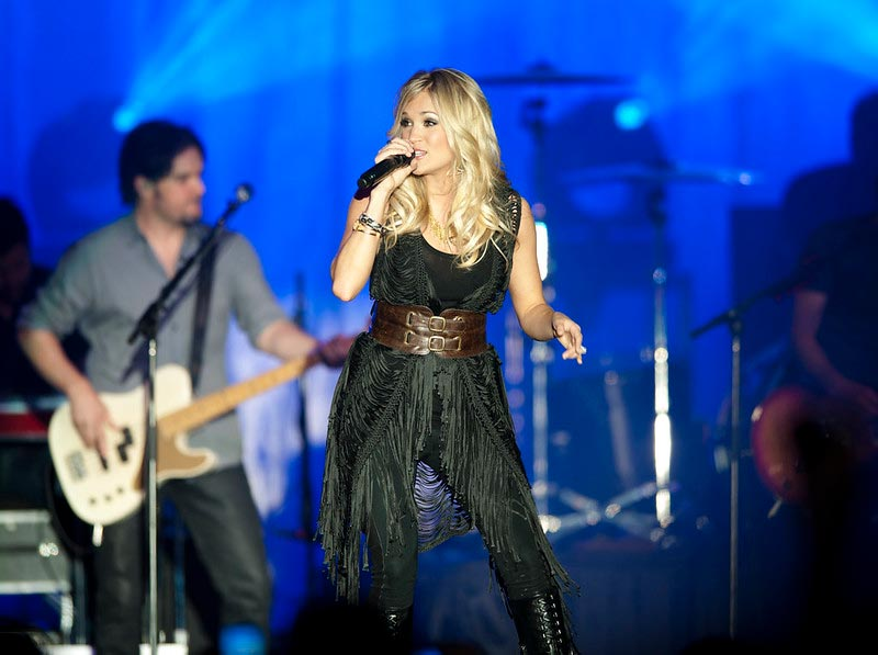 Female Country Singer Carrie Underwood Performing Live